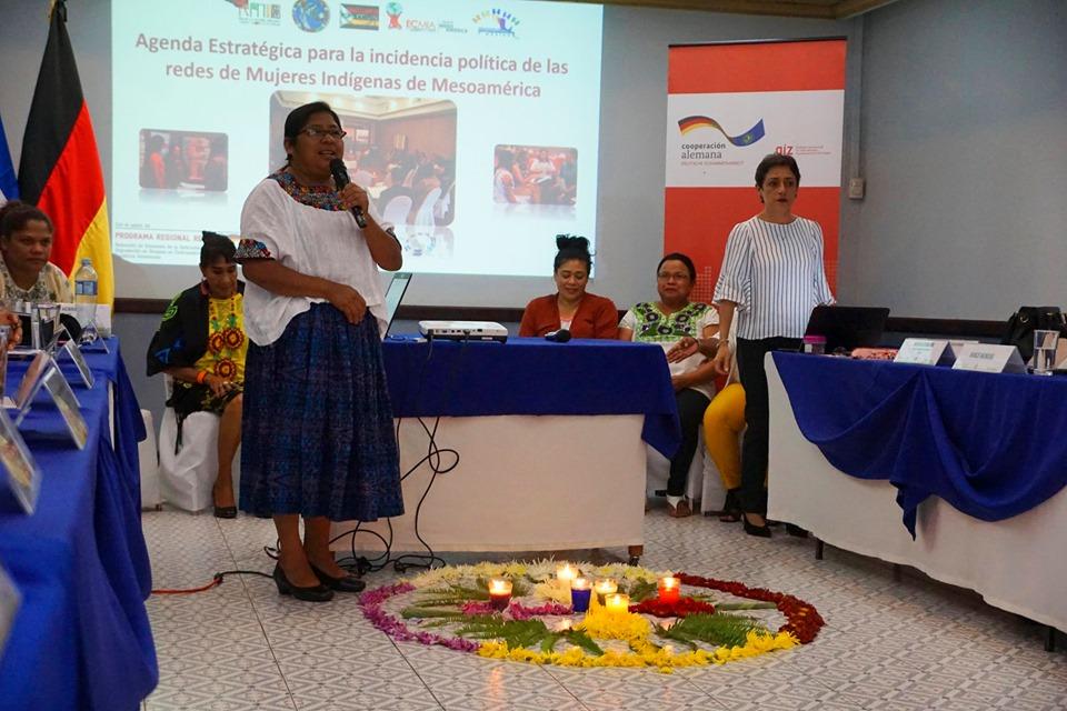 El presidente de la institución Óscar Enrique Guardado, participó en la presentación de la agenda estratégica para la incidencia política de las redes de mujeres indígenas de Mesoamérica