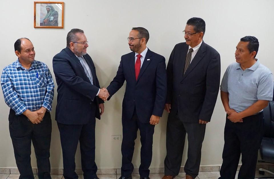 El presidente de la institución Óscar Enrique Guardado Sostuvo una reunión con el licenciado Marco Antonio Aldana, presidente del Banco de Fomento Agropecuario