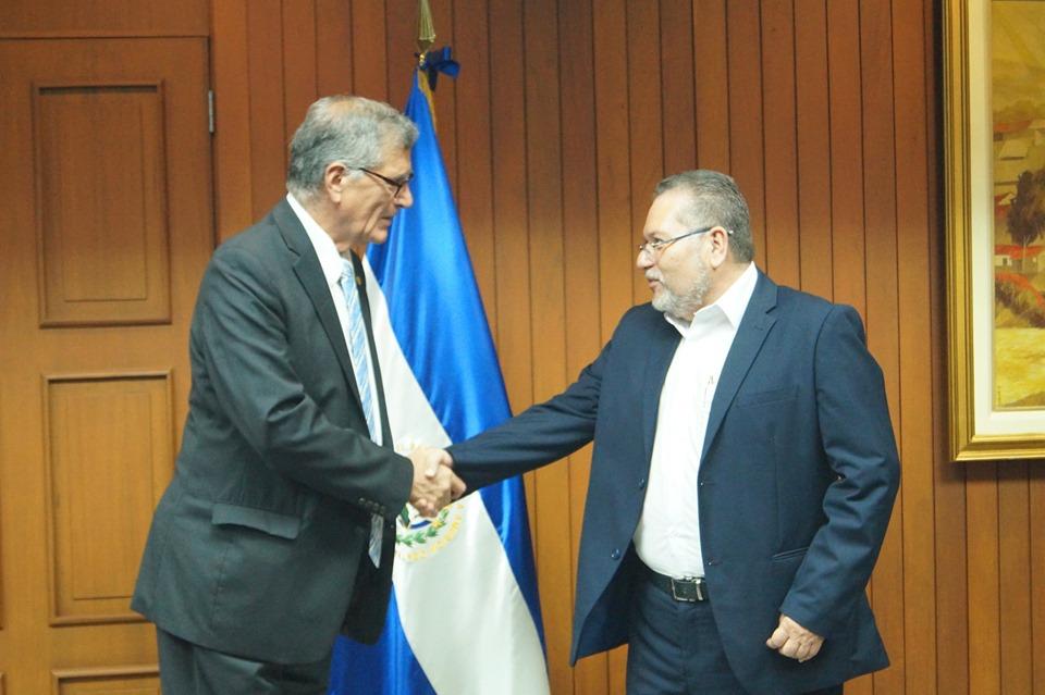 El presidente Óscar Enrique Guardado, sostuvo un encuentro con el presidente del Banco Central de Reserva (BCR), Carlos Federico Paredes