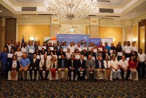 El presidente Óscar Enrique Guardado, se hizo presente en el evento de clausura y entrega de diplomas del Taller de Formación de Facilitadores Nacionales de Innovación (FNI)