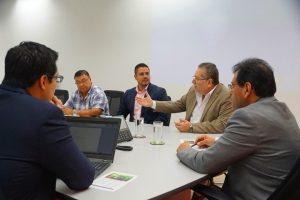 El presidente de la institución Óscar Enrique Guardado, se reunió con el presidente del Banco de Fomento Agropecuario Marco Aldana