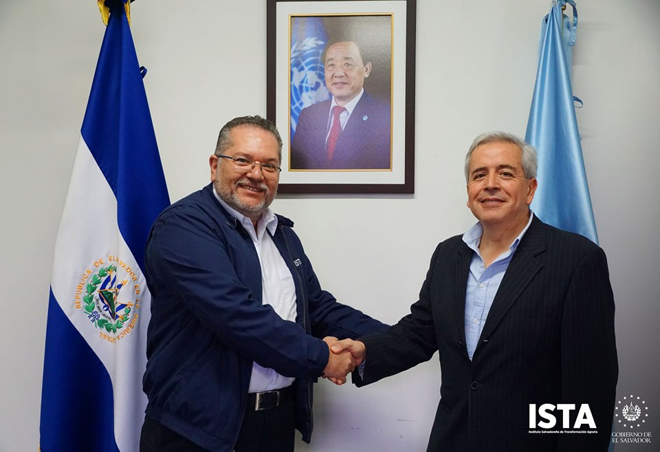 El presidente Óscar Enrique Guardado, sostuvo un encuentro con Diego Recalde, representante de la Food and Agriculture Organization of the United Nations (FAO) en El Salvador