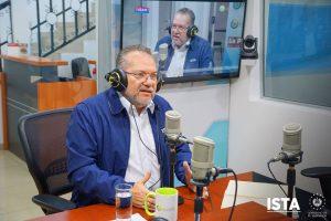 El presidente Óscar Enrique Guardado, asistió al programa #LaEntrevista, de Orbita TV
